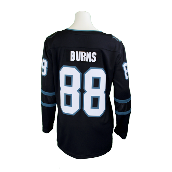 Fanatics Sharks Replica Brent Burns Black Women's Stealth Jersey 40% Off