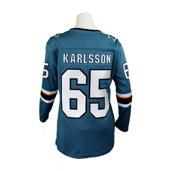 Fanatics Sharks Replica Teal Erik Karlsson Women's Jersey 40% Off