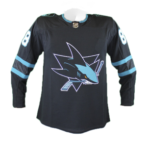 Adidas Sharks Brent Burns Authentic Black Stealth Jersey 40% Off