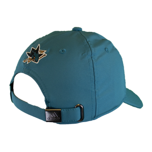Adidas Sharks Teal Coach Slouch Adjustable Strap Back Hat