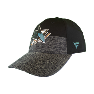Fanatics Sharks Locker Room Gray/Black Flex Fit Hat