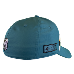 Fanatics Sharks Teal Locker Room Flex Fit Draft Hat
