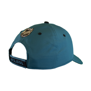 Fanatics Sharks Teal Locker Room Adjustable Velcro Hat