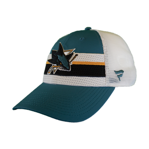 Fanatics Sharks Teal/White Locker Room Draft Adjustable Snap Back Hat