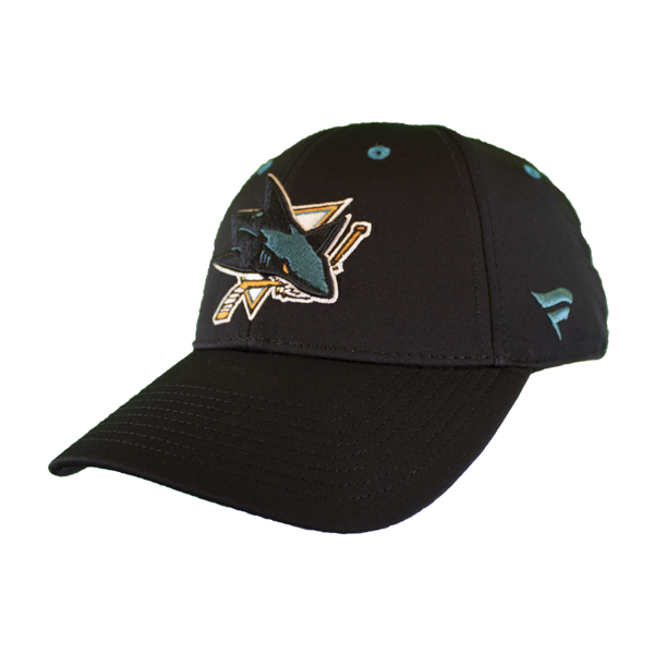 Fanatics Sharks Black Locker Room Adjustable Velcro Hat