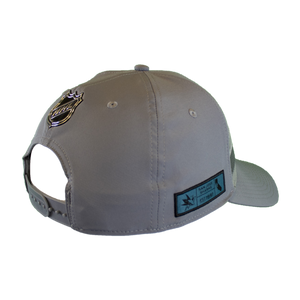 Fanatics Sharks 3 Stripe Gray Adjustable Snap Back Hat