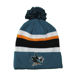 Fanatics Sharks Black/Teal Locker Room Draft Beanie
