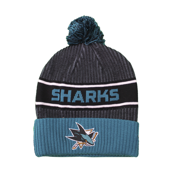 Fanatics Sharks Teal/Black Locker Room Beanie