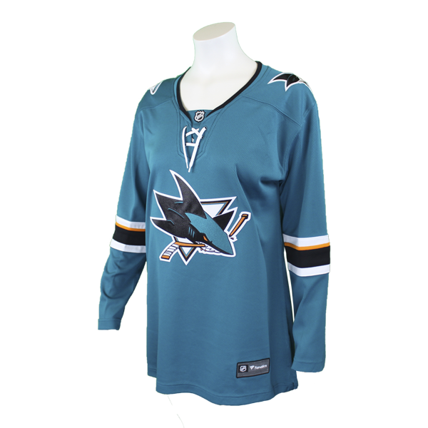 Fanatics Sharks Replica Teal Women's Jersey