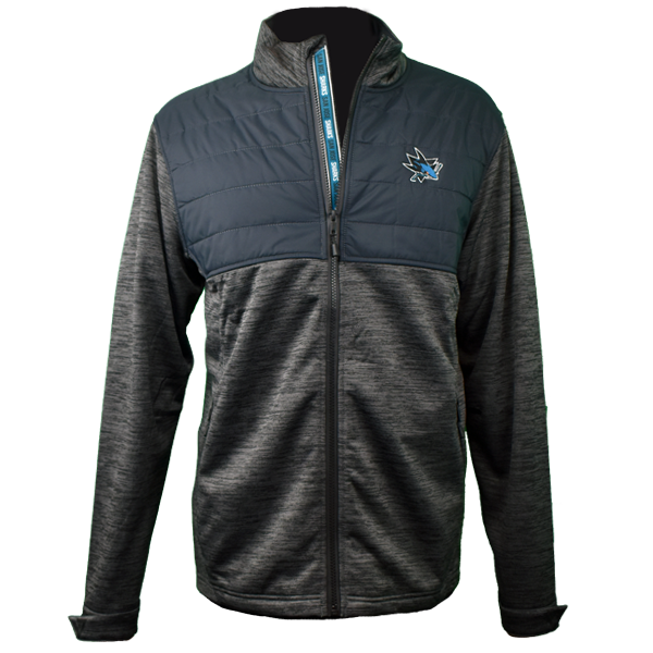 Levelwear Men's Sharks Beta Repeat Full Zip Jacket 40% Off