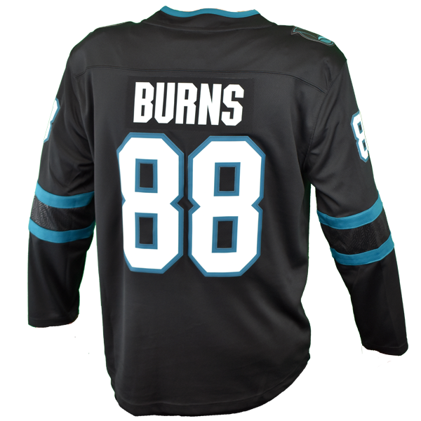 Fanatics Sharks Brent Burns Replica Black Stealth Jersey 40% Off