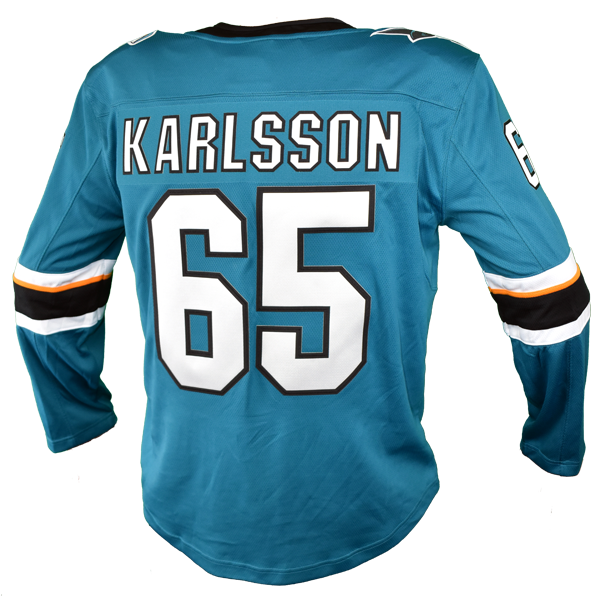 Fanatics Sharks Erik Karlsson Replica Teal Jersey 40% Off
