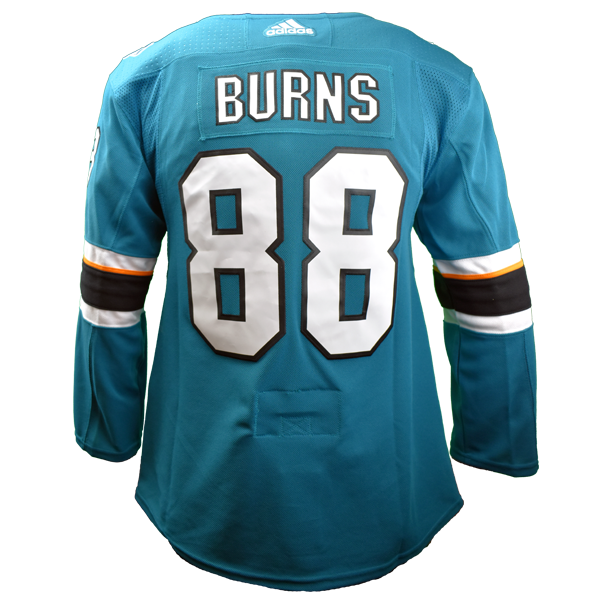 Adidas Sharks Brent Burns Authentic Teal Jersey 40% Off