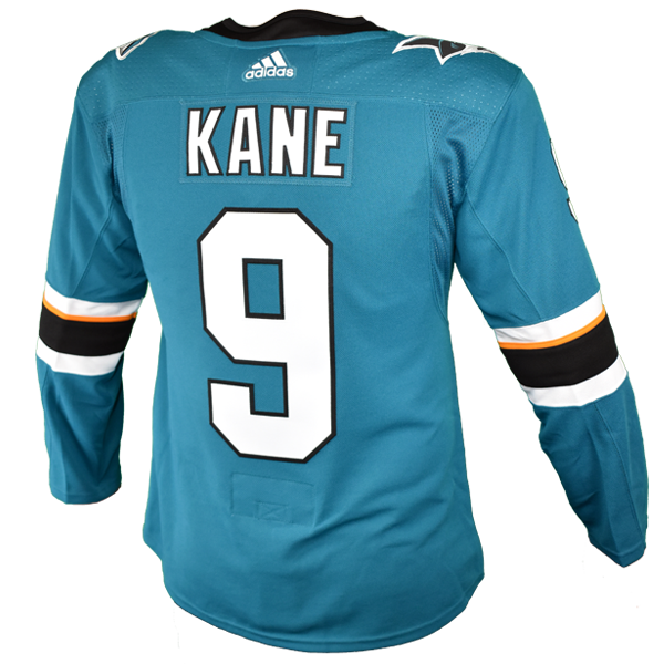 Adidas Sharks Evander Kane Authentic Teal Jersey w/ Pro Lettering 40% Off