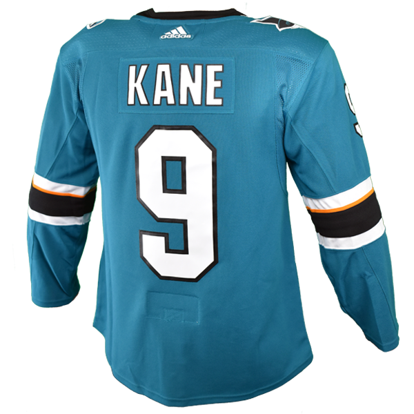 Sharks Authentic Player Jersey Pro Letters Teal Kane