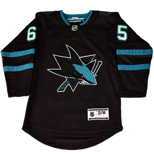 Fanatics Sharks Erik Karlsson Premier Black Youth Stealth Jersey 40% Off