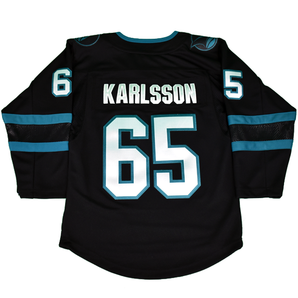 Sharks Premier Player Jersey Black Youth Karlsson