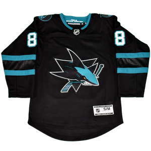 Fanatics Sharks Brent Burns Premier Black Youth Stealth Jersey 40% Off