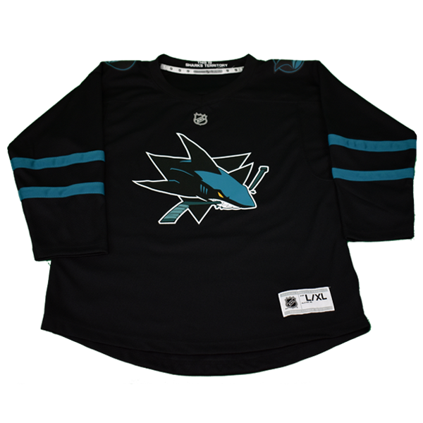 OuterStuff Sharks Black Youth Stealth Jersey