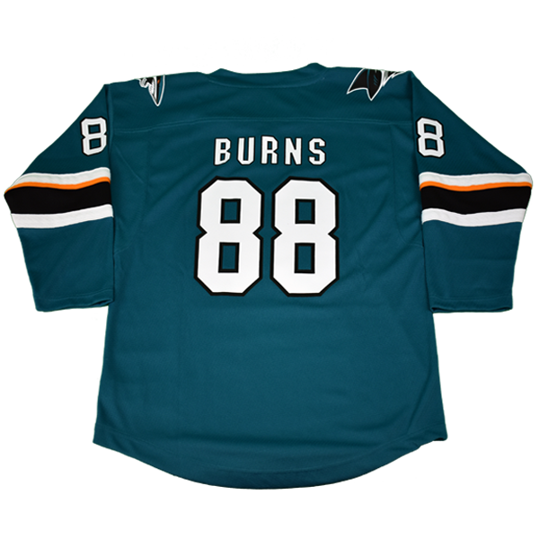 OuterStuff Sharks Brent Burns Teal Youth Jersey 40% Off