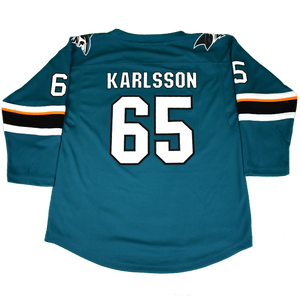 Sharks Outerstuff Jersey Teal Youth Karlsson