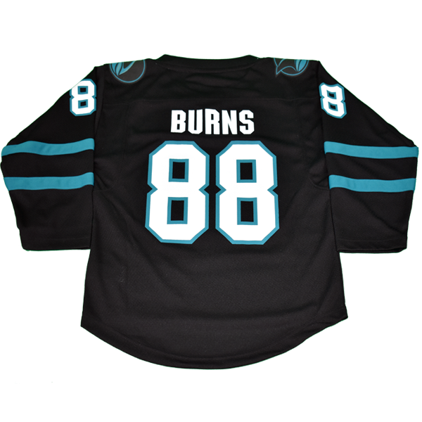 OuterStuff Sharks Brent Burns Black Youth Stealth Jersey 40% Off