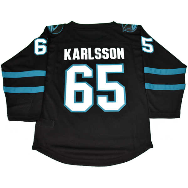 OuterStuff Sharks Erik Karlsson Black Youth Stealth Jersey 40% Off