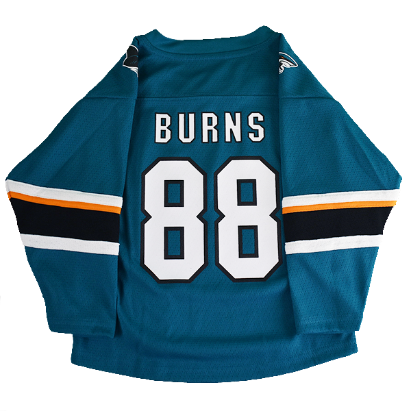 OuterStuff Sharks Brent Burns Teal Toddler Jersey 40% Off