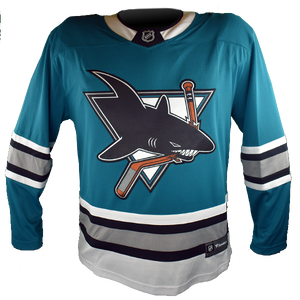 Fanatics Sharks Replica Teal Heritage Jersey