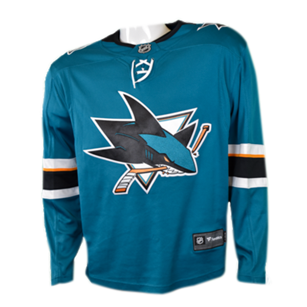 Fanatics Replica Teal Sharks Jersey