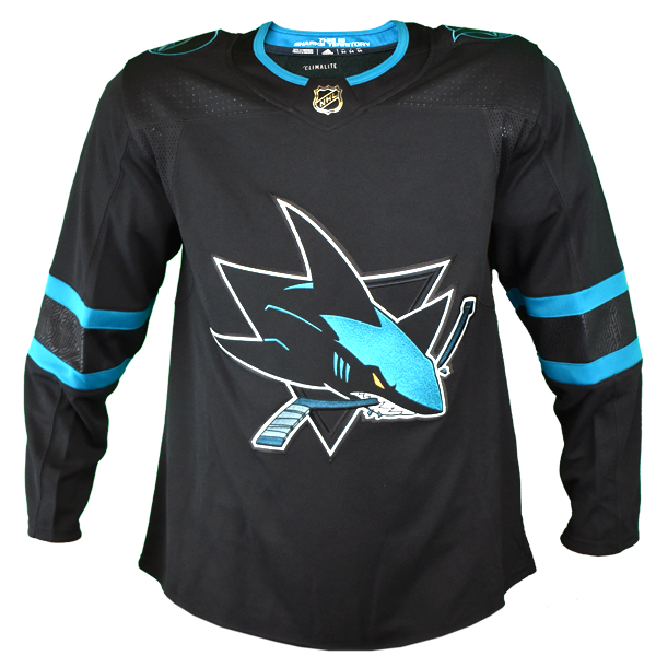 Adidas Authentic Black Sharks Jersey - Personalization Available