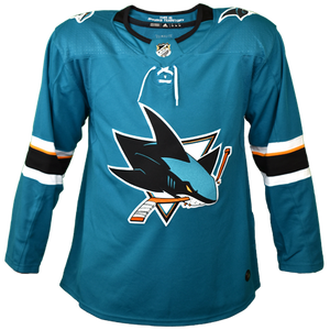 Adidas Authentic Teal Sharks Jersey - Personalization Available