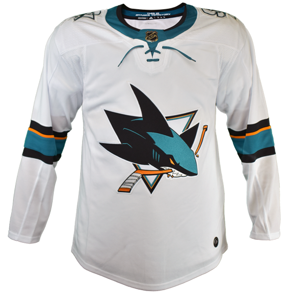 Adidas Authentic White Sharks Jersey Personalization Available