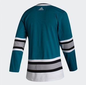 Adidas Sharks Authentic Teal 30th Anniversary Heritage Jersey - Personalization Available