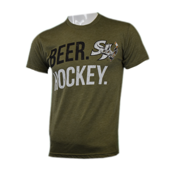 108 Stitches Barracuda Beer Hockey Shirt
