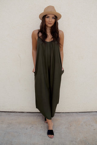 Sleeveless Jersey Jumpsuit