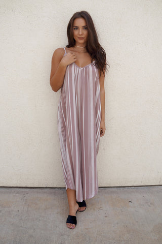 Striped Loose Jumpsuit