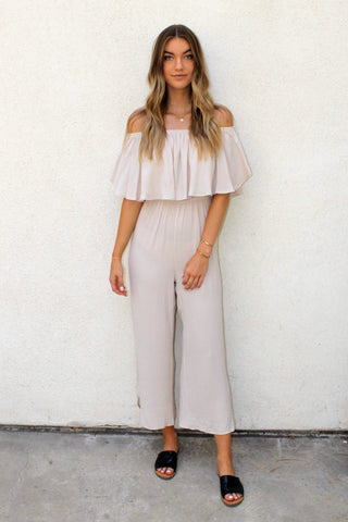 Summer Lovin Off The Shoulder Ruffle Jumpsuit