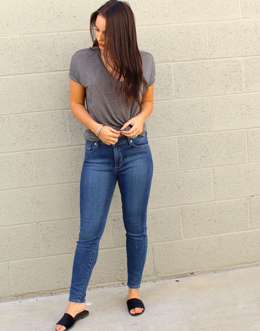 High Rise Cropped Skinny Jeans