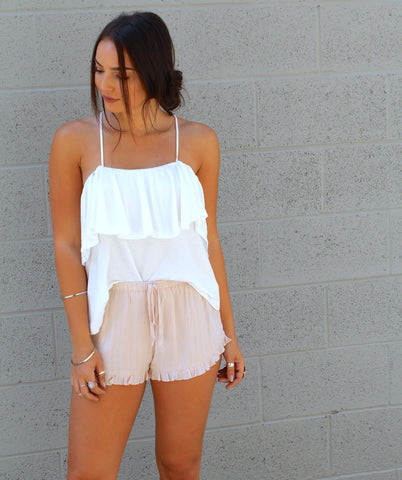 Lurex Ruffle Shorts