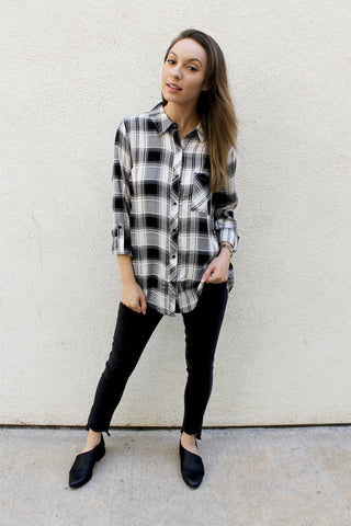Plaid Flannel Blouse