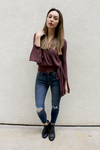 Knit Wrap Top