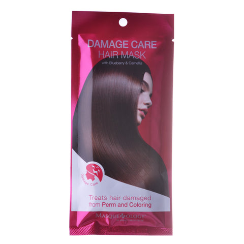 Damage Care Treatment Hair Mask with Blueberry & Camellia, 1.24 OZ