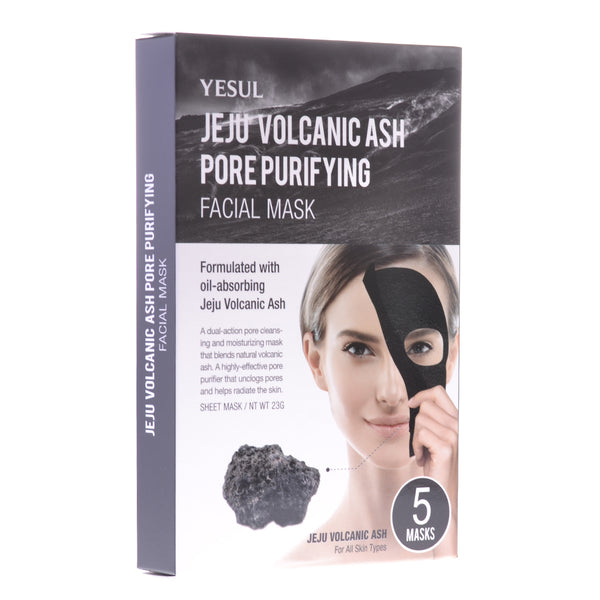 Volcanic Lava Ash Pore Purifying Facial Mask, 5 Masks