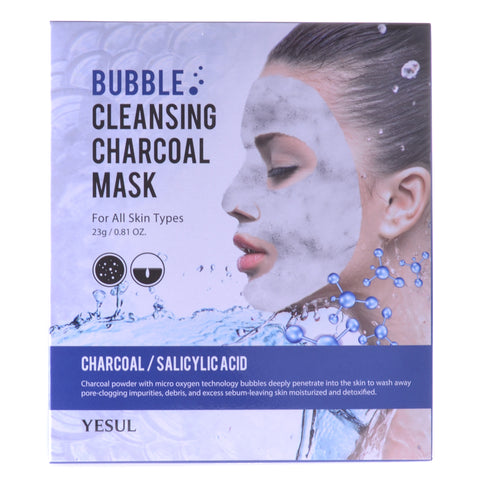 Charcoal Cleansing Bubble Mask, 5 Masks