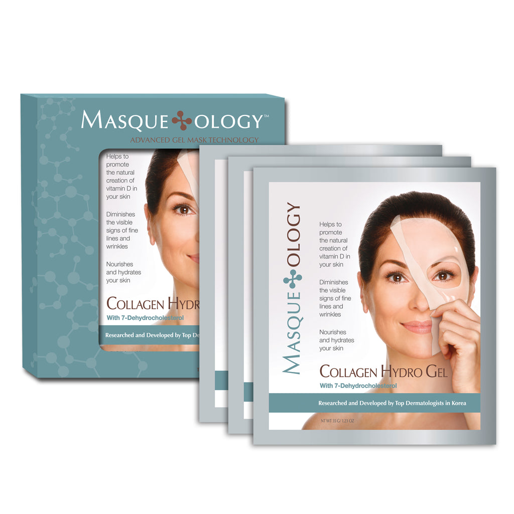 Collagen Hydro Gel Mask, 3 Masks