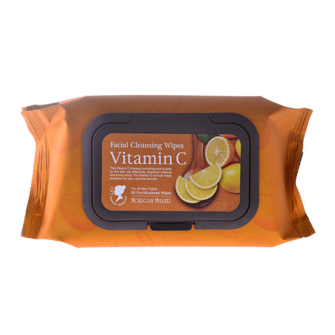 Facial Cleansing Wipes Vitamin C, 60 ct