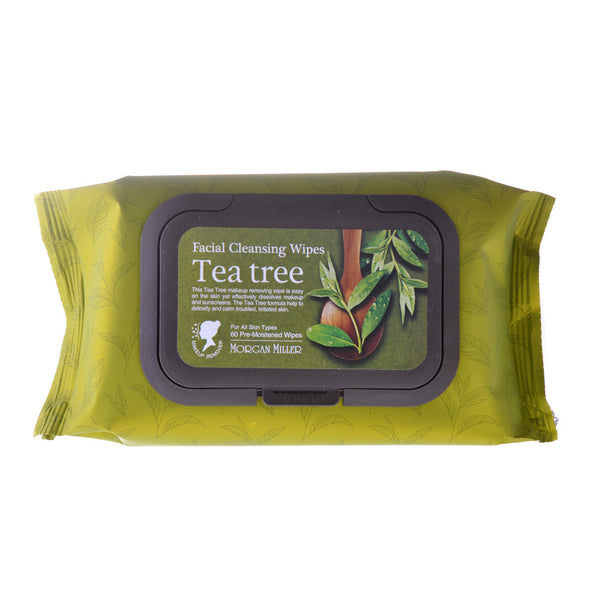 Facial Cleansing Wipes Tea Tree, 60 ct
