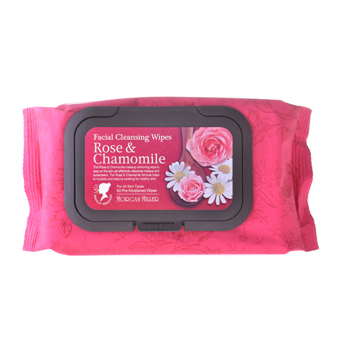 Cleansing Wipes Rose & Chamomile, 60 ct