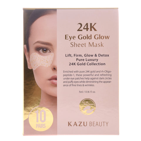 24K Gold Glow Eye Mask, 10 Masks